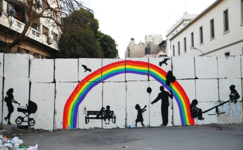 Street artists paint 'through' SCAF walls, inprotest