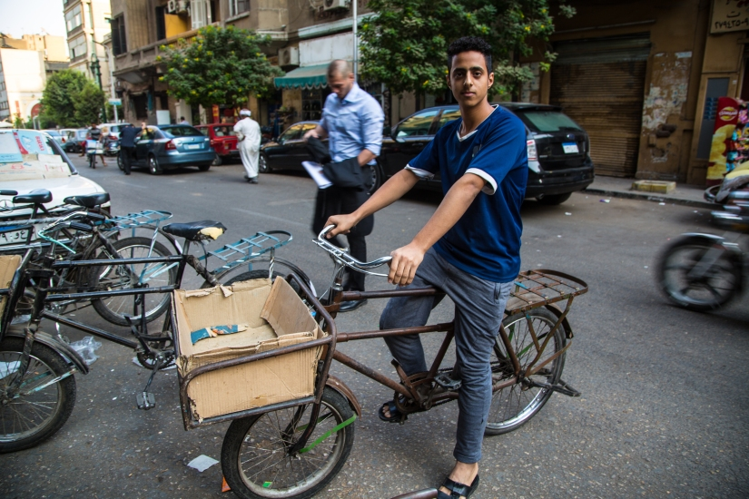 From our Correspondent: In heat and chaos of Cairo an army of couriers has sprung up