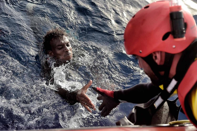 Desperate battle for life on the Mediterranean